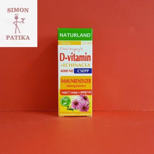 Naturland D-vitamin 4000NE+Echinacea csepp 30ml