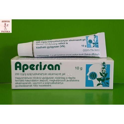 Aperisan 200 mg/g szájnyálkahártyán alkalmazott gél 10g