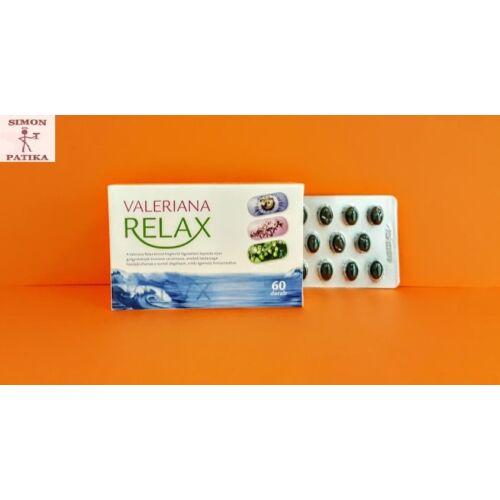 Valeriana Relax Gyógynövénykivonat kapszula 60db