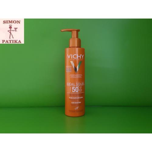Vichy Ideal Soleil homokálló napvédő tej FF50+  200ml