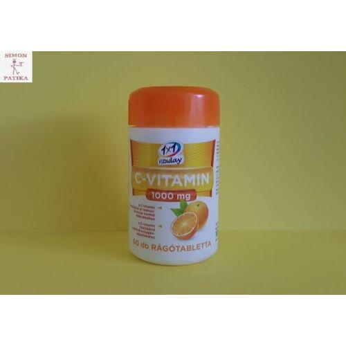 1x1 Vitamin C 1000 mg narancs ízű rágótabletta 60x