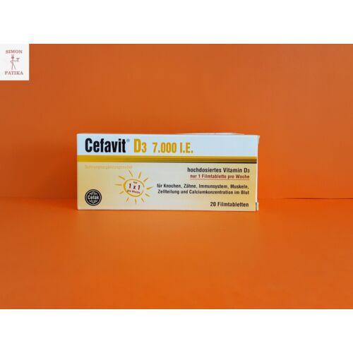 Cefavit D3 vitamin 7000NE filmtabletta 20db