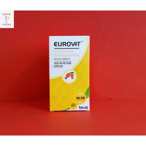 Eurovit C+D vitamin csipkebogyóval tabletta 90db