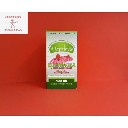 Vitapaletta Echinacea+Béta-Glükán tabletta 100db