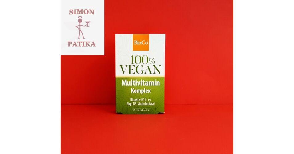 Bioco vegán multivitamin komplex tabletta - 30 db